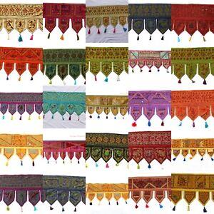 Indian-Hand-Window-Valance-Deco-Art-Door-Hanging-Embroidery-Ethnic-Toran