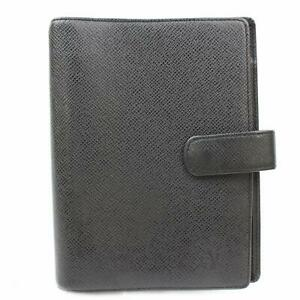 Authentic-Louis-Vuitton-Diary-Cover-Agenda-MM-R20222-Black-Taiga-152119
