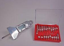 Digital Electronic Depth Gauge Dial Indicator 22 Piece Test Indicator Anvil Set