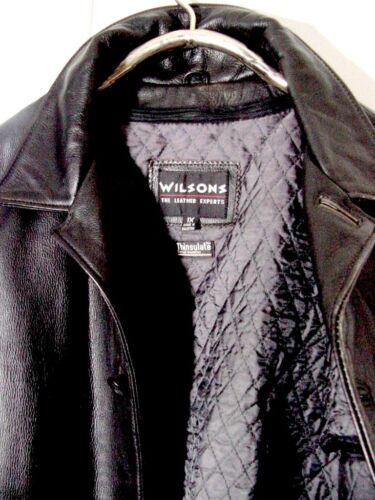 abrigo botón de Supernatural Winchester botones Wilsons con Sz cuero de Vtg Xl negro qxfEHwZI