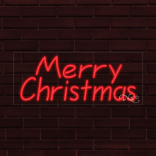 Brand New Merry Christmas 32x13x1 Inch Led Flex Indoor Sign 30261