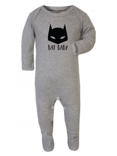 Grey 0-3 months Bat New baby gift 100/% cotton Bat Baby Sleepsuit Baby grow