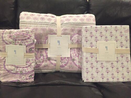 Sham Swan Sheet Set NEW Pottery Barn Kids Keira Paisley Twin Quilt Lavender