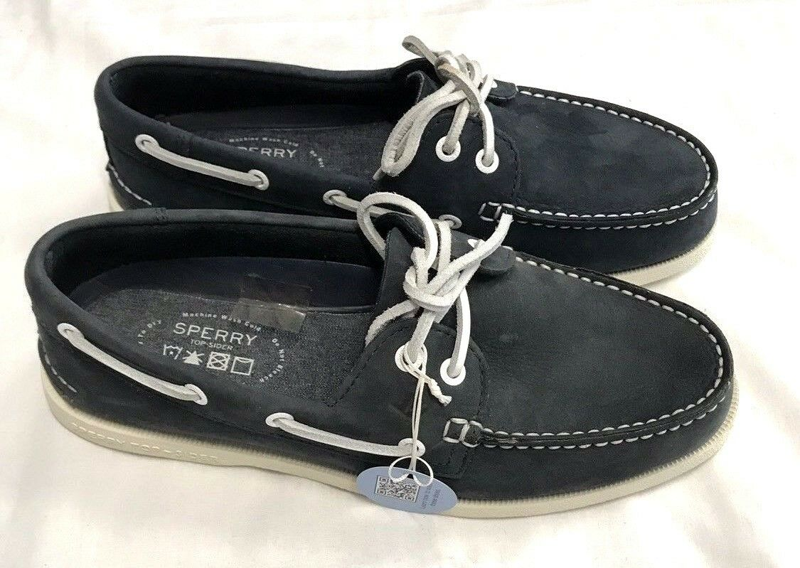 Sperry Top-Sider A O 2-Eye Washable Deck   Boat shoes, Navy