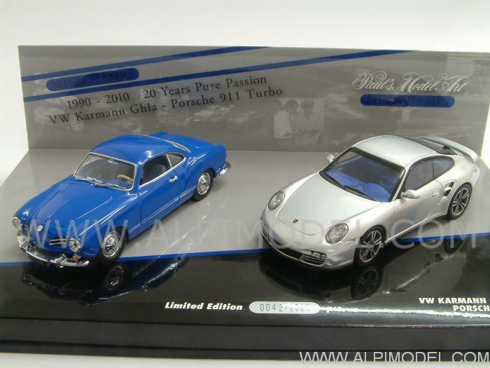 Porsche 911 Turbo 2010 Volkswagen Karmann Ghia Coupe 1 43 MINICHAMPS 402902010