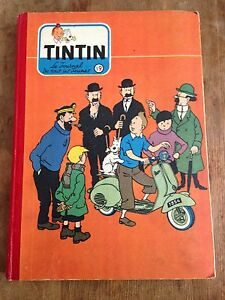reliure-journal-tintin-france-19-1954-couv-Herge-points-cote-BDM-270e