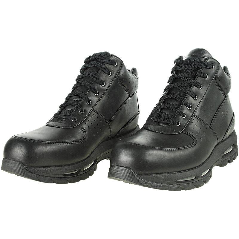 Männer's ACG Air Max Goadome Leder Stiefel Schwarz Schwarz Größen 8-13 NIB 865031-009