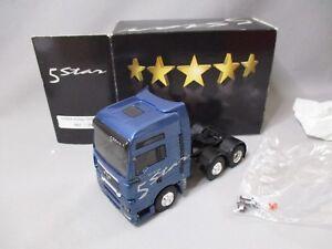 Dv8128 Eligor 1/43 Tracteur Man Tg Xxl 26.530 5 Star 6x2 Bleu 112922