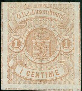 Lussemburgo LUXEMBOURG 1859 STEMMA 1c. inutilizzato MH * mi:3 kw:170 €
