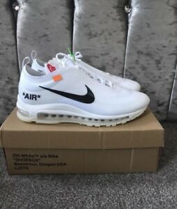 the latest aa26c a818d Details about OFF WHITE NIKE 97 BLXK