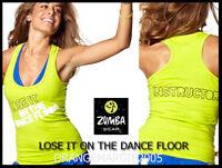 Zumba Instructor Racerback Top Tank-lose It On The Dance Floor-elitezwear S M L