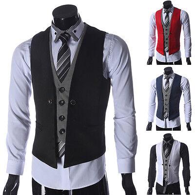 STYLISH Men's Business Formal Casual Dress Vest Suit Waistcoat Jacket Coats Tops