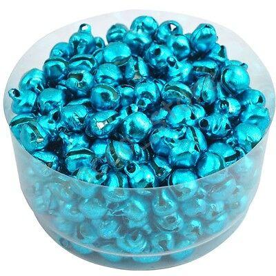 100 Pcs Colorful Iron Loose Beads Christmas Jingle Bells Pendants Charms 8x6 mm