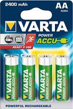 4x Varta 56756 Akku-Batterie Ni-MH Mignon AA New Power 2400 mAh