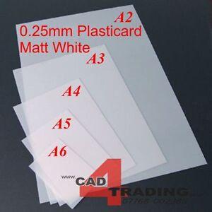 0 25mm Plasticard Styrene Sheet Matt White Vac Form Art