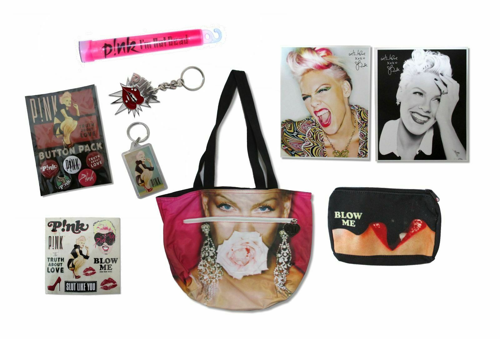P!NK Pink The Truth About Love Super Fan 9 Item Collectible Gift Set