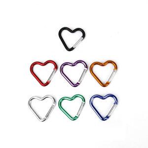 Heart-Carabiner-Clip-Clasp-Spring-Hook-Keyring-Camping-Carabina-Karabiner-New