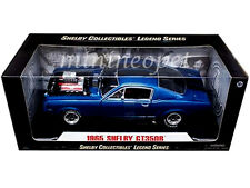 COLLECTIBLES 510 1965 SHELBY MUSTANG GT 350R 1/18 BLUE with RACE ENGINE