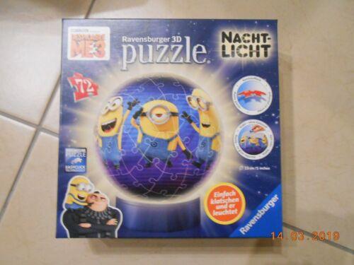 wie NEU !!! !! Minions 3D Puzzle+Nachtlich Ravensburger