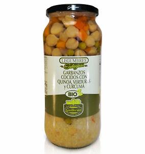 Guillermo Garbanzos Cocidos Quinoa Verduras Cúrcuma Ecológicos BIO Extra 540gr
