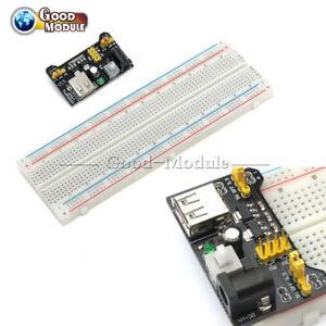 3-3V-5V-MB102-Power-Supply-Board-PCB-Breadboard-830-Tie-Point-For-Arduino-DIY