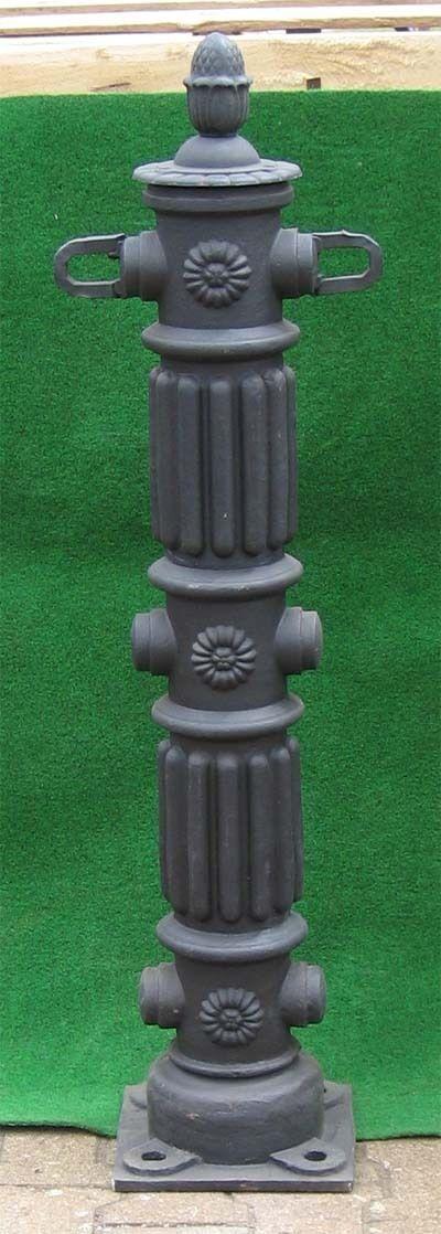 Nostalgie Eisen Poller-Pfosten-121cm-60KG - schwarz
