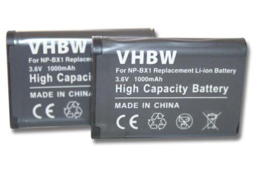 2x Batteria fotocamera 1000mah PER Sony Cybershot dsc-rx100 III