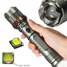 1000LM Zoomable CREE XM-L T6 LED Rechargeable 7 Modes Tactical Flashlight Torch