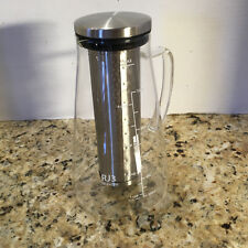 RJ3 Ovalware Glass 1L Cold Brew Coffee & Tea Maker Removable Stainless Filter