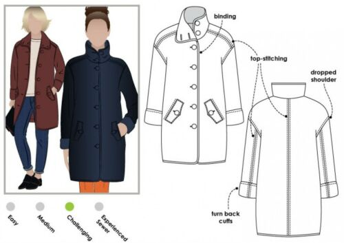 Style Arc Ladies Sewing Pattern Grace Coat MLJB003S-M