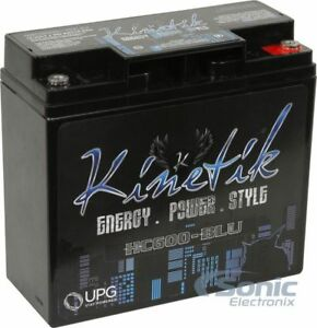 KINETIK 600W 12V High Current AGM Car Audio Power Cell/Battery | HC600-BLU
