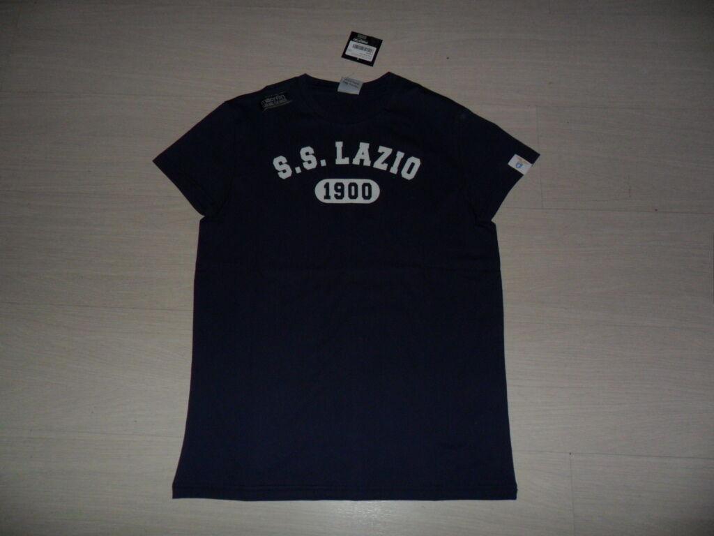 XXL MACRON Lazio Rom T-SHIRT Baumwolle Blau SPRING 2013 T-Shirt JERSEY TEE  30     Neuer Markt
