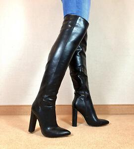 Details zu Gr.46 TOP ! Exklusiv Sexy Damen Schuhe Overknee Stiletto Stiefel Männer Boots F6