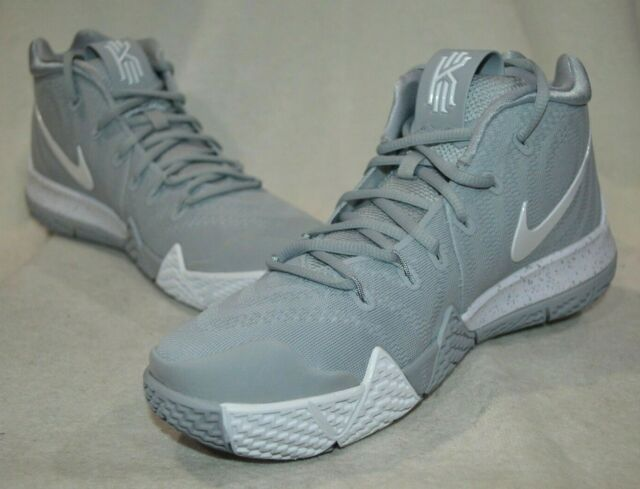 new style a57c0 f7b69 Nike Kyrie 4 TB Mens Av2296-002 Wolf Grey White Black Basketball Shoes Size  11