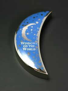 World Trade Center Windows on the World Silver Crescent Moon Shaped Paper Weight