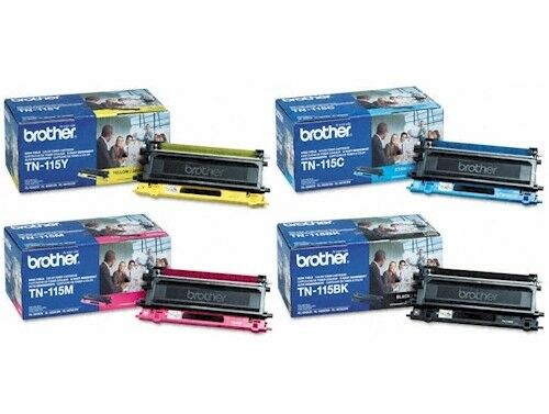 4PK Genuine Brother TN-115BK C Y M TN115 Toner Cartridge MFC-9840CDW NEW Out Box