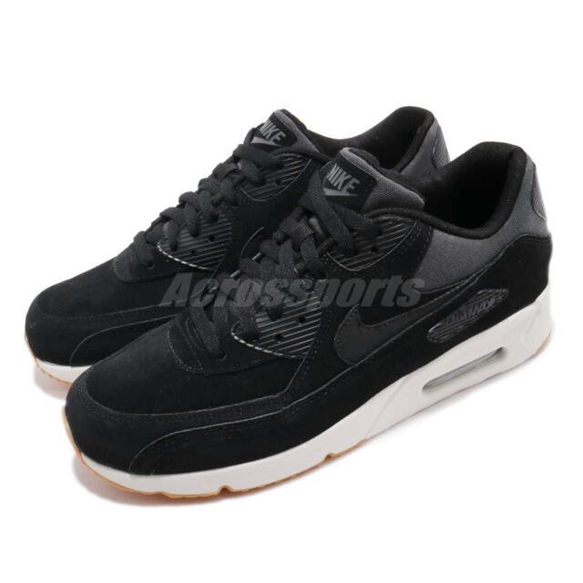 2e14f092f84e Nike Air Max 90 Ultra 2.0 Leather Mens 924447-003 Black Running ...