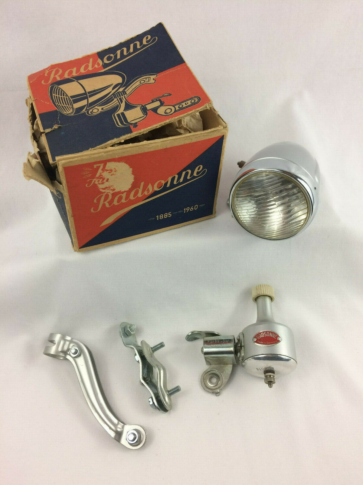 Vintage Radsonne Bike  Generator Light Kit, Complete w  All Parts In Original Box  fast shipping to you