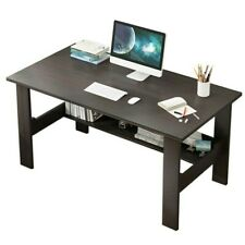 Computer Desk Pc Laptop Table Study Workstation Wood Home Office With Shelf
