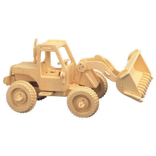 Bulldozer 3D Holzbausatz Bau Fahrzeug Wagen Auto Holz Steck Puzzle Kinder Bauen