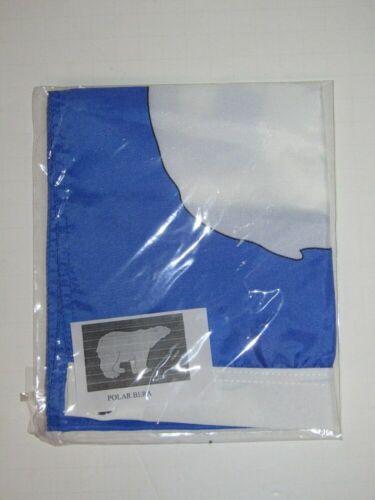 """12x18 12/""""x18/"""" Polar Bear Blue Motorcycle Flag Grommets"""