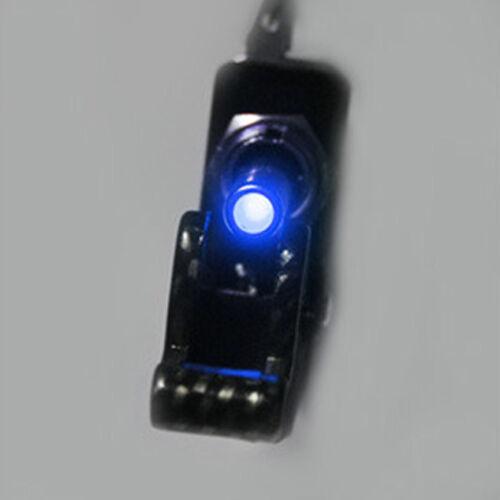 Car 12V 20A Blue LED Light Carbon Fiber SPST Rocker Toggle Switch WYS Sales