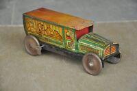 Vintage Wind Up Circus Car A Mark Litho Tin Toy , Japan
