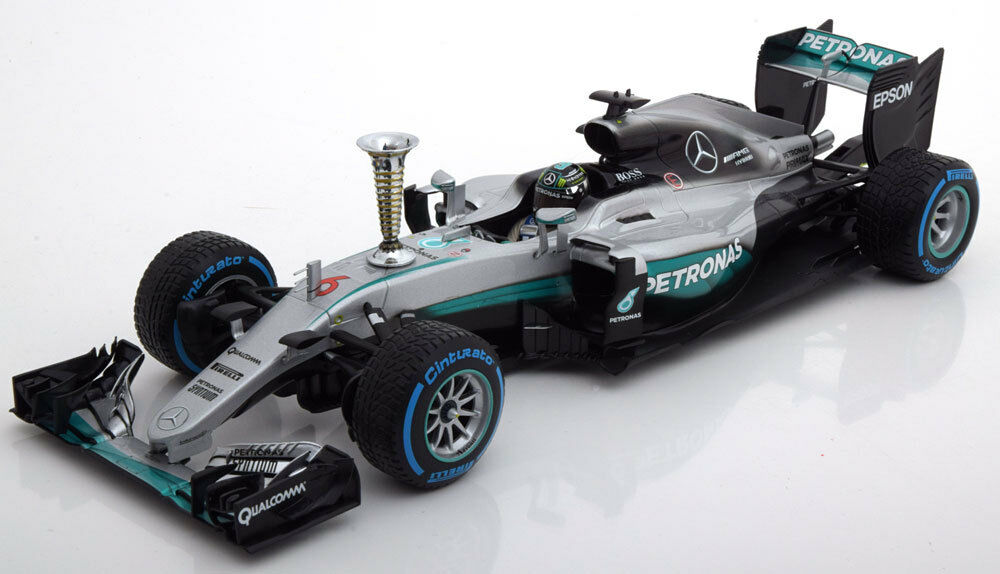 Minichamps Mercedes AMG F1 W07 démonstration Run Sindelfingen 2016 Rosberg 1 18