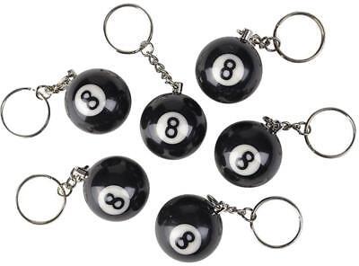 10 bulk lot EIGHT BALL KEY CHAIN billards pool 8 balls item hall  black billIard