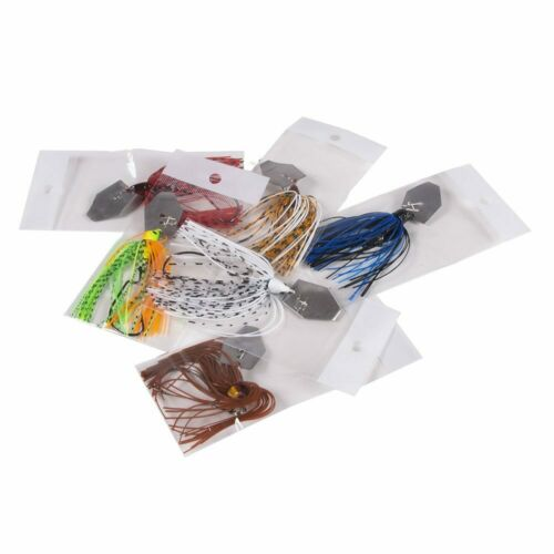Chatterbait Blade Bait with Rubber Skirt 10cm//11g Buzzbait Fishing Lures Tackle