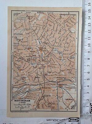 Lincoln  Street Plan Atlas 1906 Antique Map