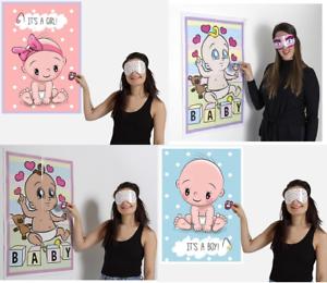 El maniquí Pin en el juego de Fiesta de la ducha de bebé niño niña unisex Reproductor De Múltiples étnicos