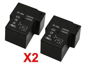 Details about 2-PC 12VDC General Purpose Relay 30A 250VAC Clion T90  HHC67E-1Z - R30A12VDCX2