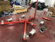 Portable Auto Body Puller Frame Straightener Clamps With Cart Foot Pump